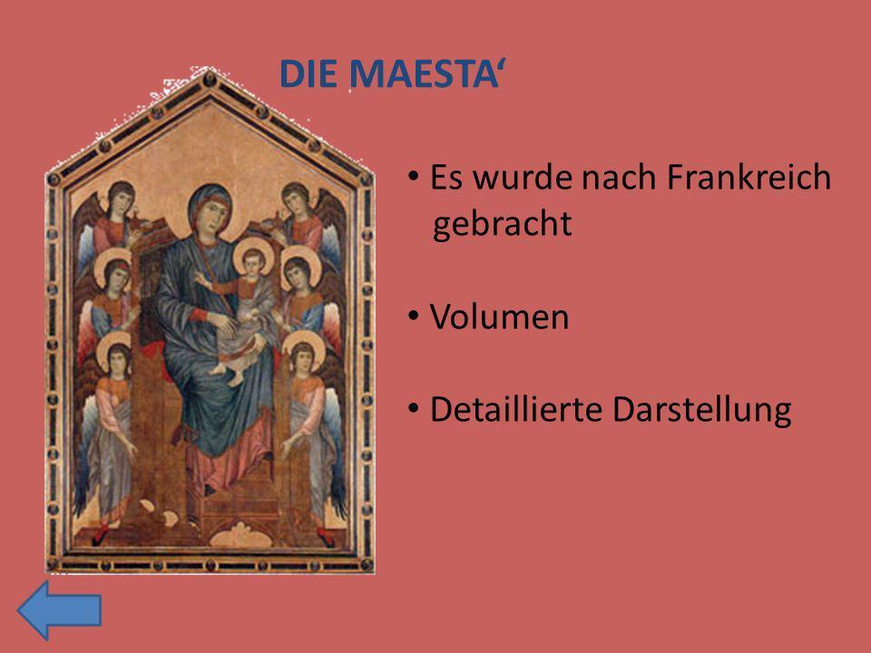 Es wurde nach Frankreich gebracht Volumen Detaillierte Darstellung DIE MAESTA
