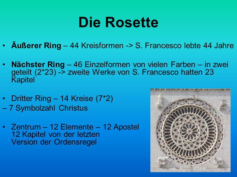 Die Rosette Äußerer Ring – 44 Kreisformen -> S.