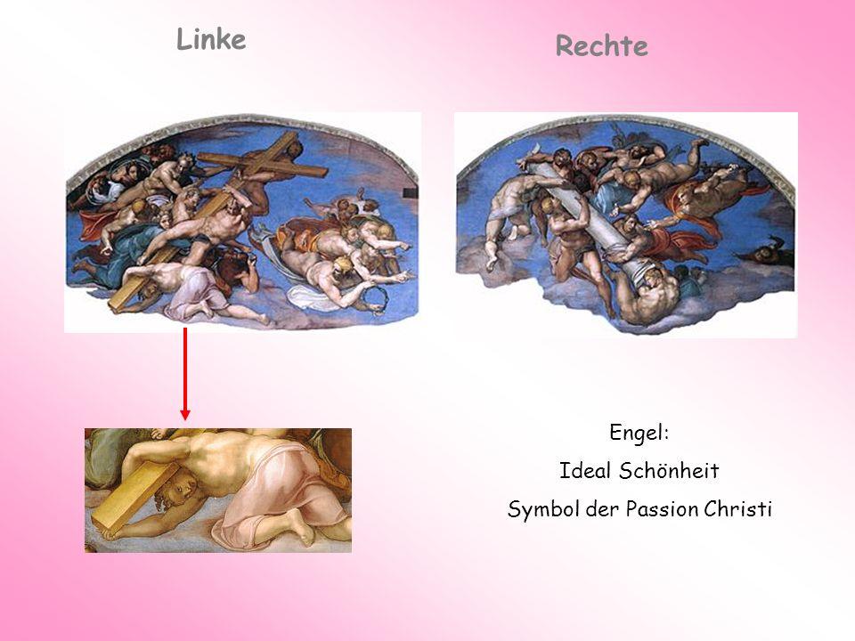 Engel: Ideal Schönheit Symbol der Passion Christi Linke Rechte