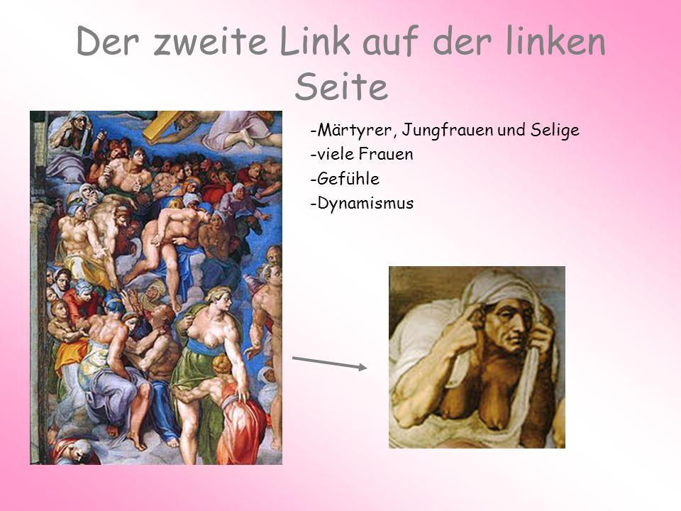 Der zweite Link auf der linken Seite -Märtyrer, Jungfrauen und Selige -viele Frauen -Gefühle -Dynamismus