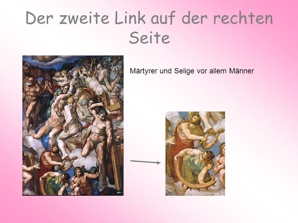 Der zweite Link auf der rechten Seite Märtyrer und Selige vor allem Männer