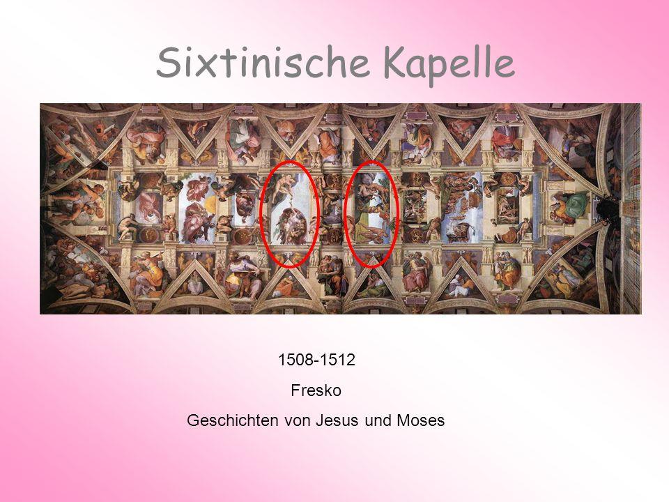 Sixtinische Kapelle 1508-1512 Fresko Geschichten von Jesus und Moses