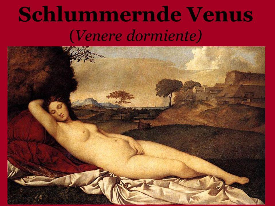 1508 – 1510 circa, (Tizian) Öl auf Leinwand Gemäldegalerie, Dresden Naturschönheit Bedeutung unbekannt