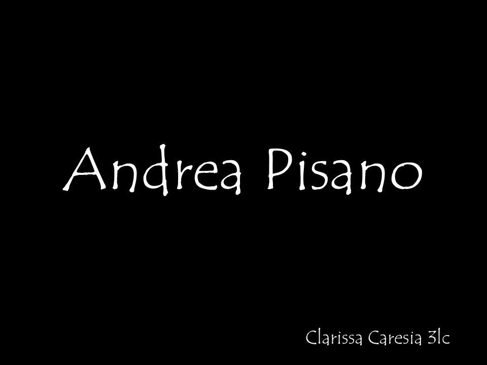 Andrea Pisano: Er war ein italienischer Bildhauer, Goldschmied und Architekt Im Jahr 1290 ist er in Pontedera neben Pisa geboren, und im 1348 ist er in Orvieto gestorben; Er ist auch als ANDREA DA PONTEDERA bekannt; Zuerst, lernte er das Handwerk des Goldschmied; Pisano war ein Schüler von Mino di Giovanni; Er arbeitete auch mit Giovanni Pisano; Sein Stil wurde durch Giotto geprägt.