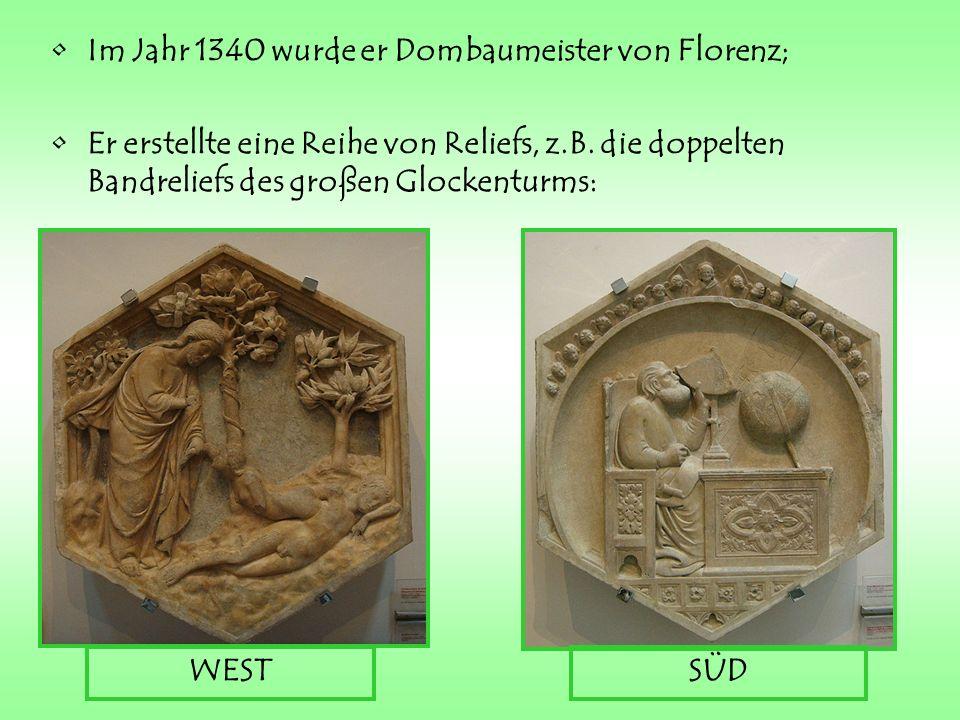 OSTENNORDEN Der Dom von Florenz hat andere Werke, die von Giotto und Pisano realisiert wurden.