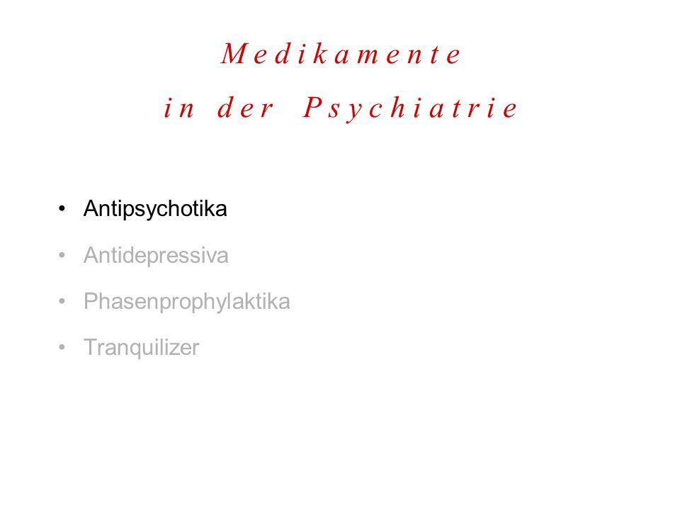 H a l o p e r i d o l H a l d o l u n d a n d e r e D1D1 A A P D2D2 D3D3 D4D4 5-HT 2 M1M1 H1H1 α1α1 Anwendung: –Akute psychotische, katatone & delirante Syndrome, psychomotorische Erregungszustände –Hochpotentes Antipsychotikum für Notfallsituationen Interaktionen: –SSRIs, TZAs, Antiepileptika, Rauchen...