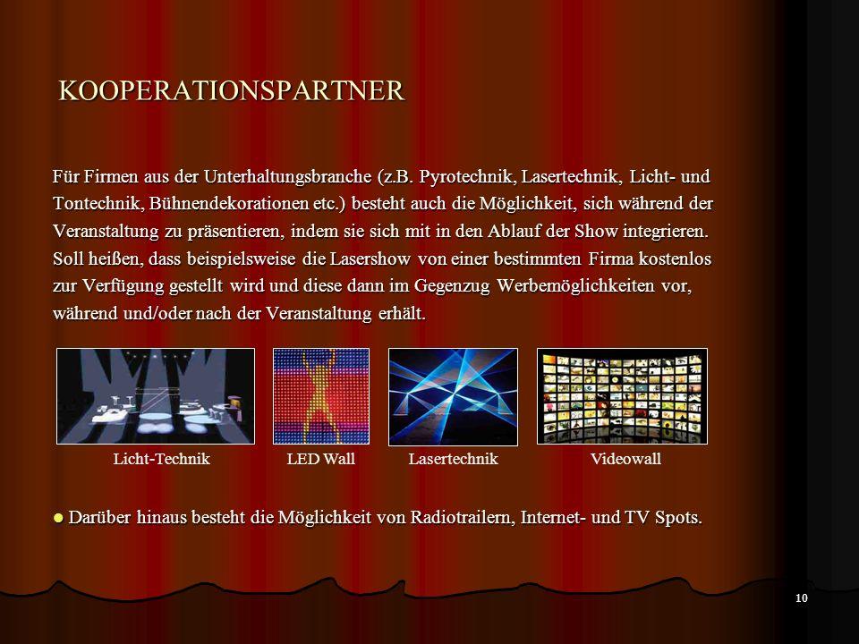 9 MARKTPLATZ FÜR MARKEN II Ferner besteht für Fahrzeughersteller oder Limousinen-Service Unternehmen die Möglichkeit, sich beim Shuttleservice zu präs