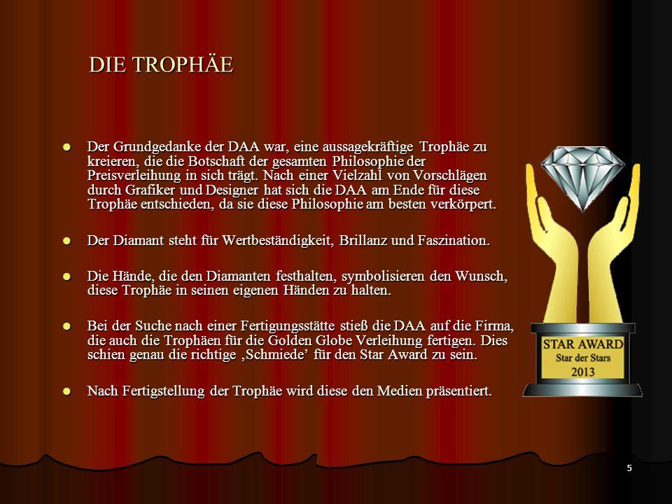 5 Der Grundgedanke der DAA war, eine aussagekräftige Trophäe zu kreieren, die die Botschaft der gesamten Philosophie der Preisverleihung in sich trägt.