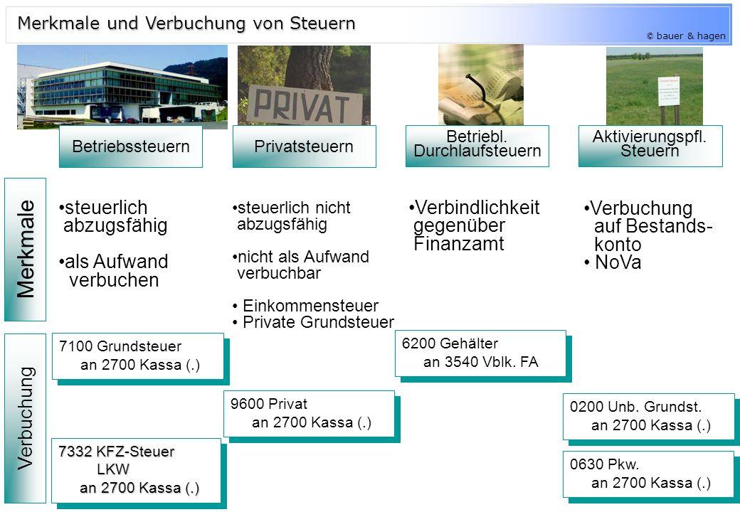 © bauer & hagen Betriebssteuern Privatsteuern Betriebl.