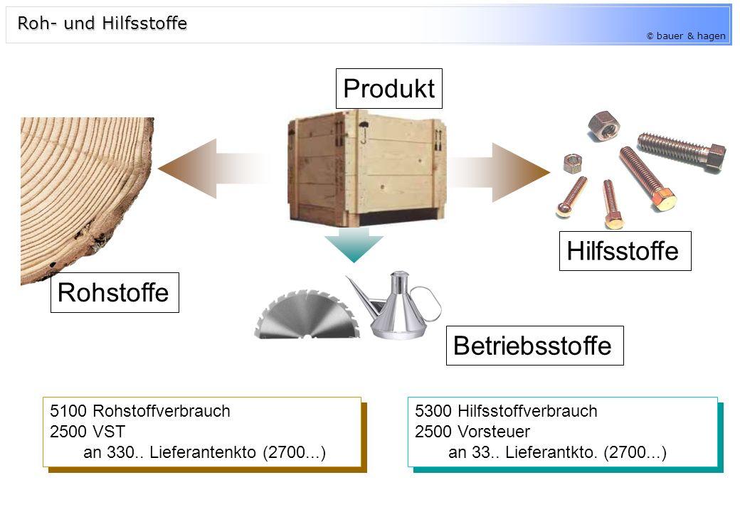 © bauer & hagen Hilfsstoffe 5100 Rohstoffverbrauch 2500 VST an 330..