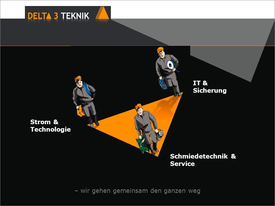 Strom & Technologie – wir gehen gemeinsam den ganzen weg Schmiedetechnik & Service IT & Sicherung