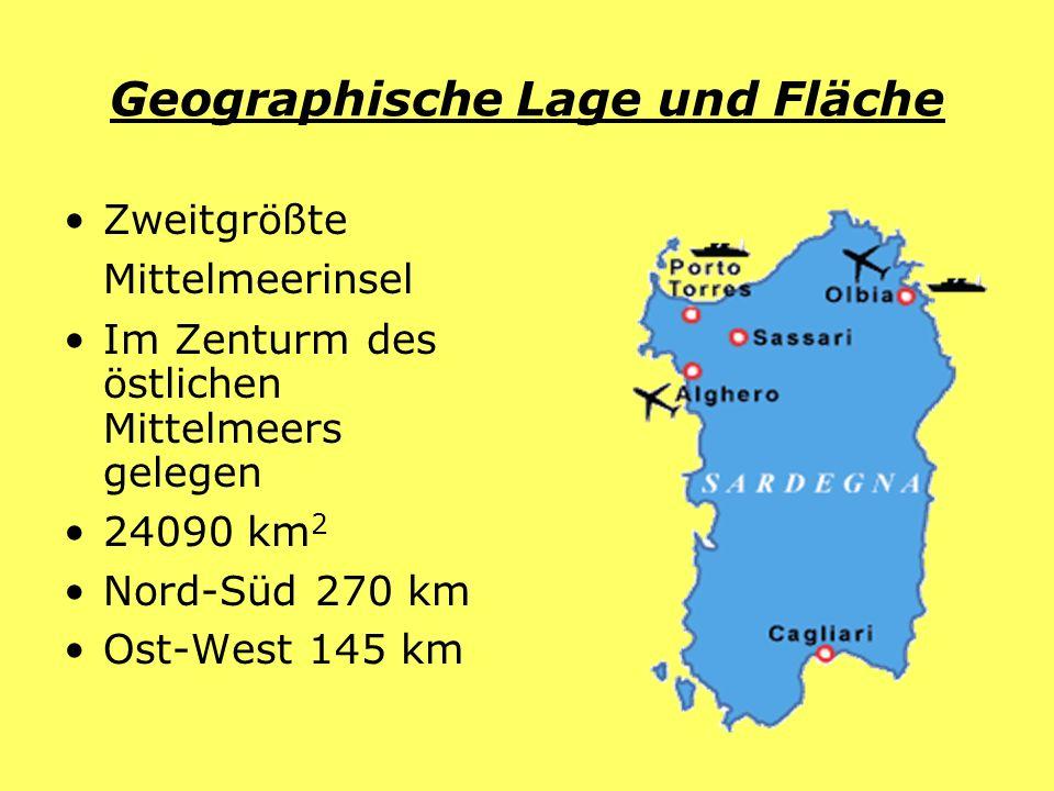 Geographische Lage und Fläche Zweitgrößte Mittelmeerinsel Im Zenturm des östlichen Mittelmeers gelegen 24090 km 2 Nord-Süd 270 km Ost-West 145 km
