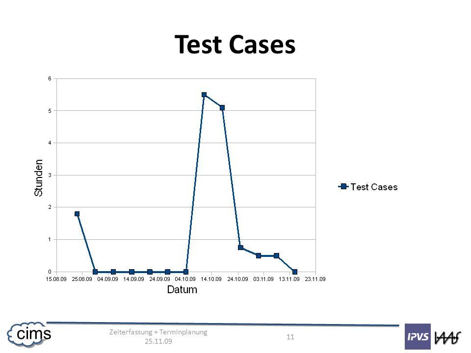 Zeiterfassung + Terminplanung 25.11.09 11 cims Test Cases