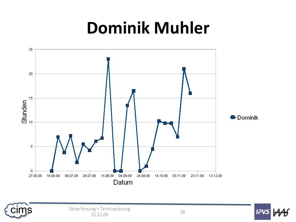 Zeiterfassung + Terminplanung 25.11.09 18 cims Dominik Muhler