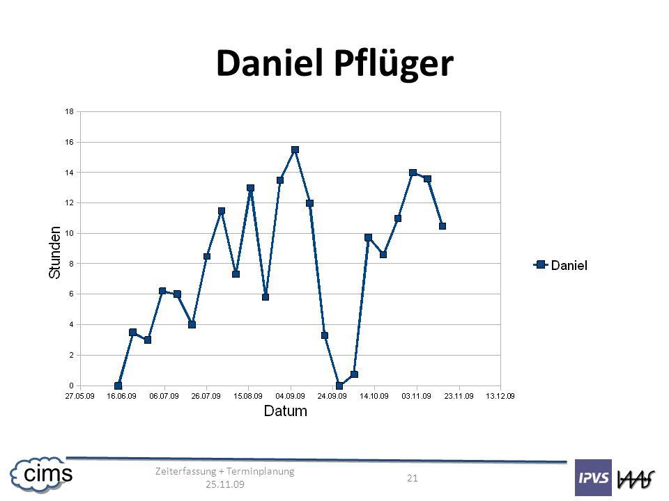 Zeiterfassung + Terminplanung 25.11.09 21 cims Daniel Pflüger
