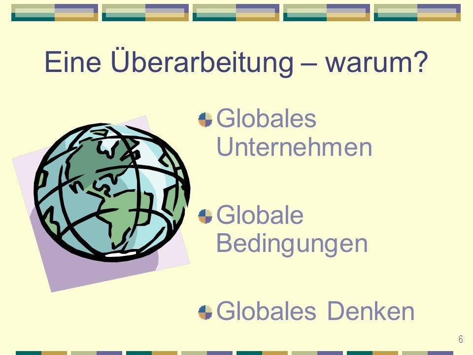 6 Eine Überarbeitung – warum Globales Unternehmen Globale Bedingungen Globales Denken
