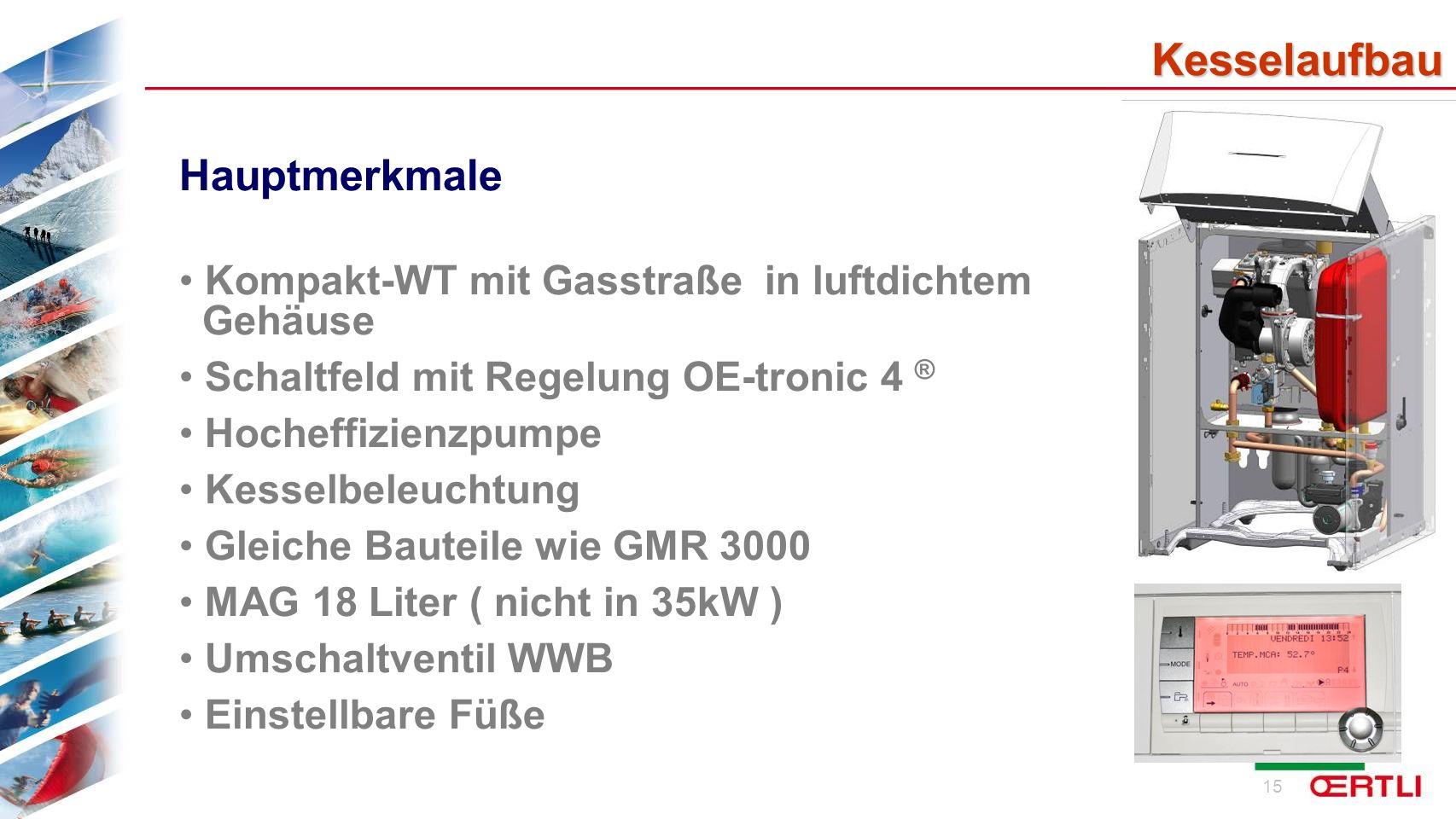 16 Kesselaufbau Hauptmerkmale Verriegelte Kesseltür wg.