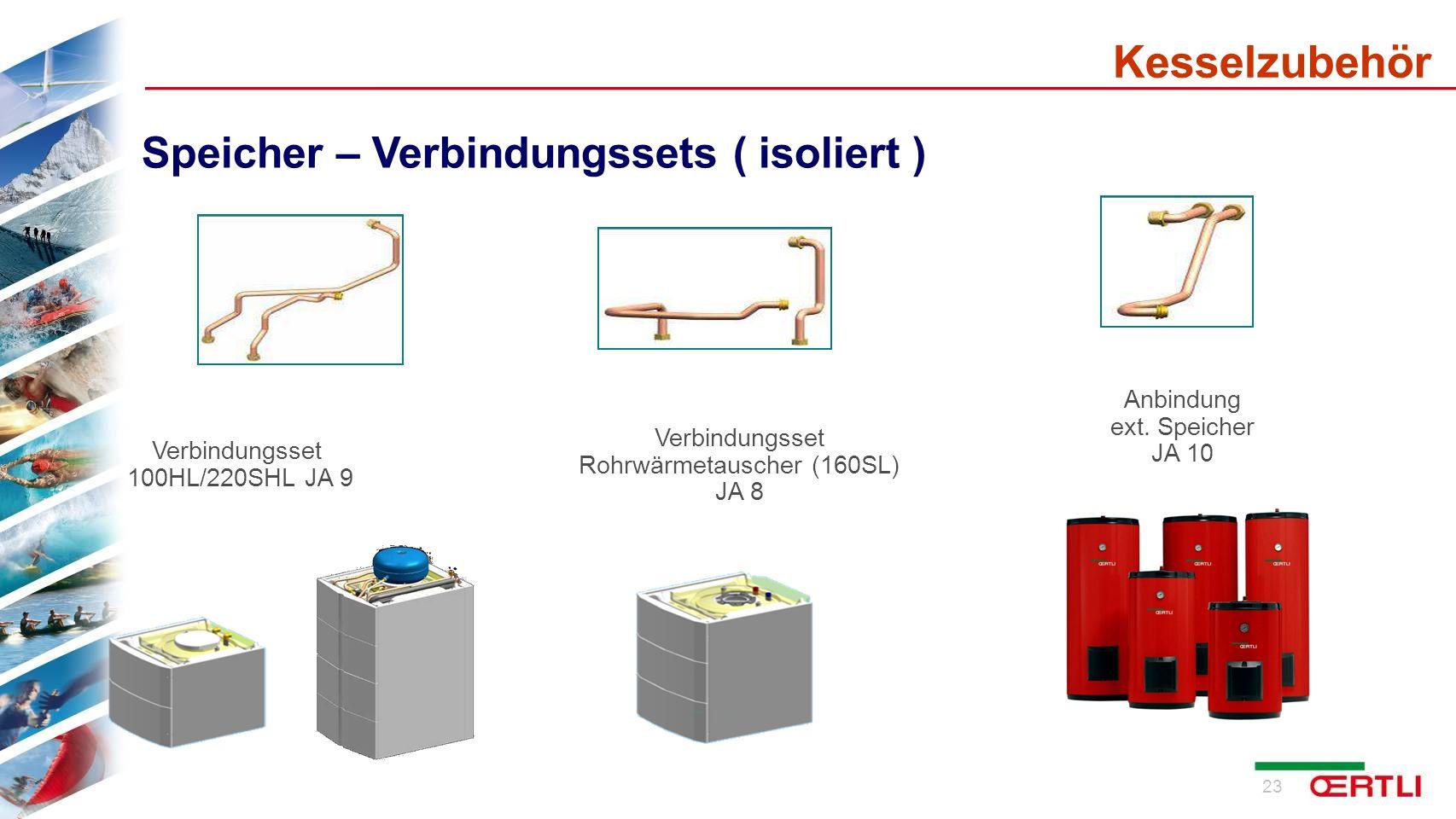 24 Hydraulische Anschluss-Sets für Säulen-Ausführung links/rechts oben Kesselzubehör Meibes Armaturen Rohrleitungen, bis auf Gas und KW isoliert !