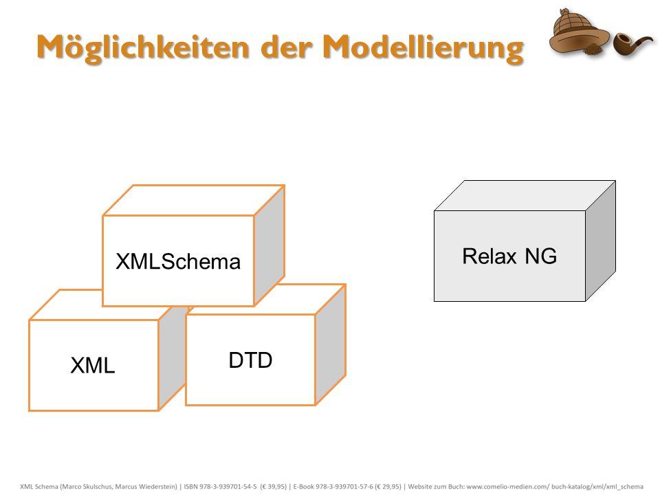 XML DTD XMLSchema Relax NG Möglichkeiten der Modellierung