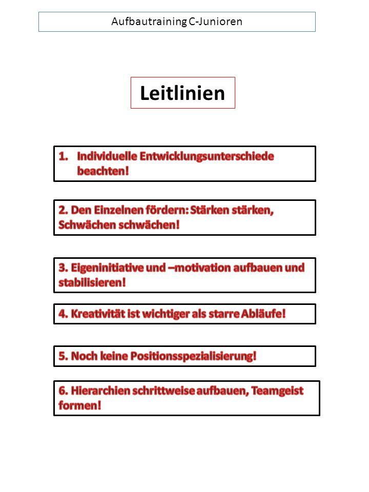 Aufbautraining C-Junioren Leitlinien
