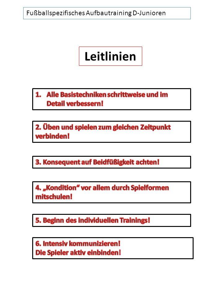 Fußballspezifisches Aufbautraining D-Junioren Leitlinien