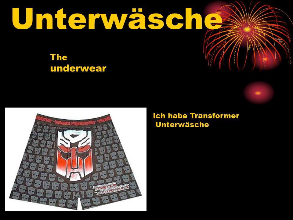 Unterwäsche The underwear Ich habe Transformer Unterwäsche