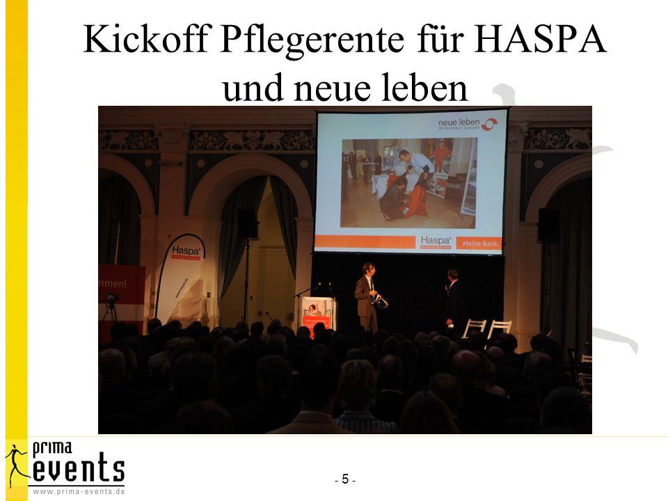 - 5 - Kickoff Pflegerente für HASPA und neue leben