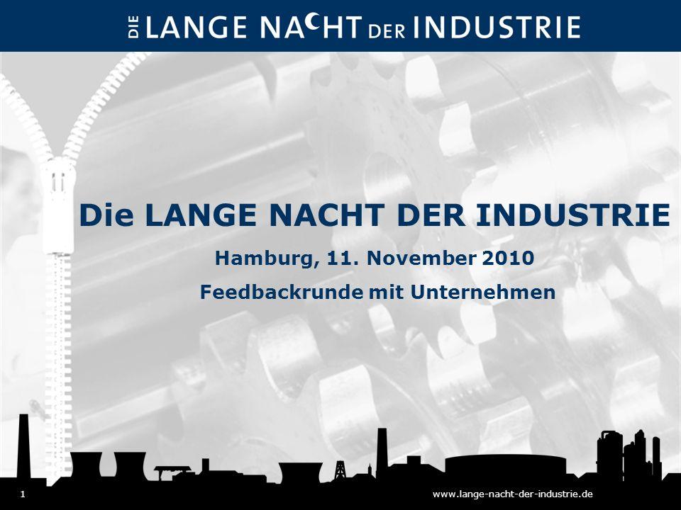 1www.lange-nacht-der-industrie.de Die LANGE NACHT DER INDUSTRIE Hamburg, 11.