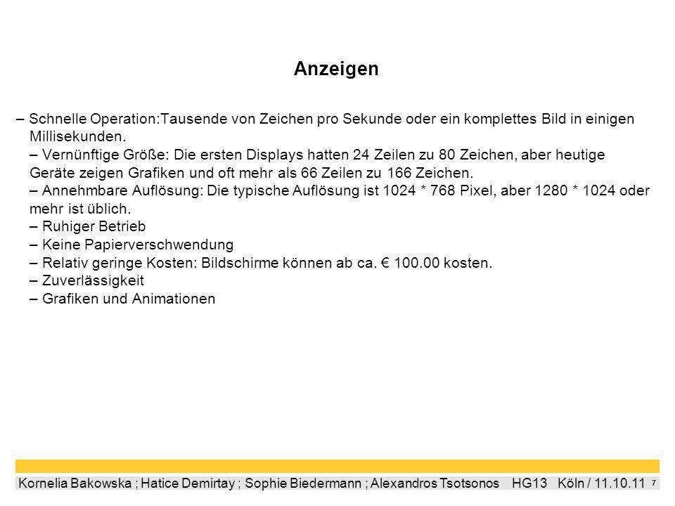 6 Kornelia Bakowska ; Hatice Demirtay ; Sophie Biedermann ; Alexandros Tsotsonos HG13 Köln / 11.10.11 Bildschirmarbeitsverordnung