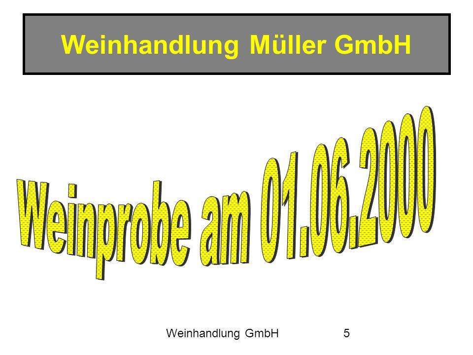 Weinhandlung GmbH6 Umsatzentwicklung