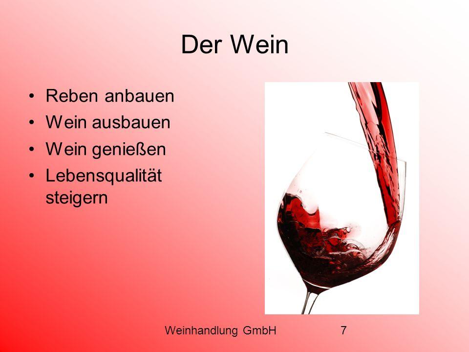 Weinhandlung GmbH7 Der Wein Reben anbauen Wein ausbauen Wein genießen Lebensqualität steigern