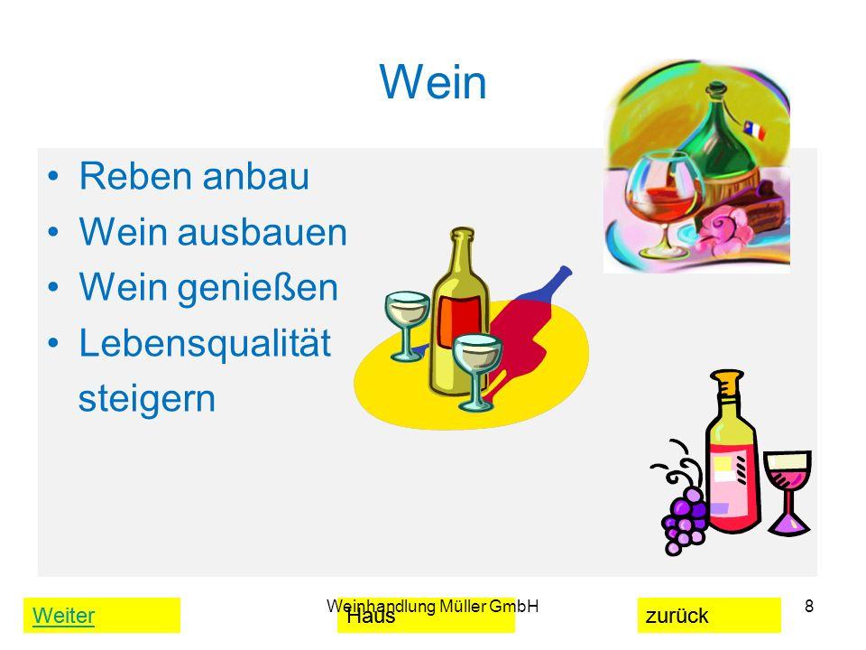 WeiterHauszurück Wein Reben anbau Wein ausbauen Wein genießen Lebensqualität steigern Weinhandlung Müller GmbH8 WeiterHauszurück