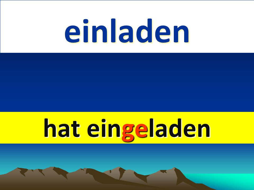 lachen 1. English 2. past form lachen 1. English 2. past form