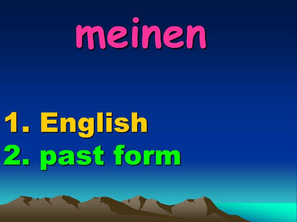 basteln 1. English 2. past form basteln 1. English 2. past form