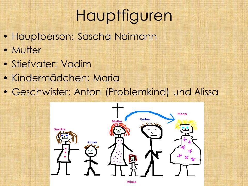 Hauptfiguren Hauptperson: Sascha Naimann Mutter Stiefvater: Vadim Kindermädchen: Maria Geschwister: Anton (Problemkind) und Alissa