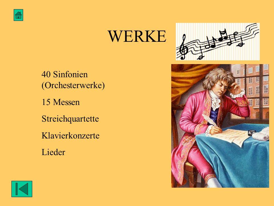 SEIN LEBENSENDE Mozart ist am 5.Dezember 1791 und sehr arm in Wien gestorben.