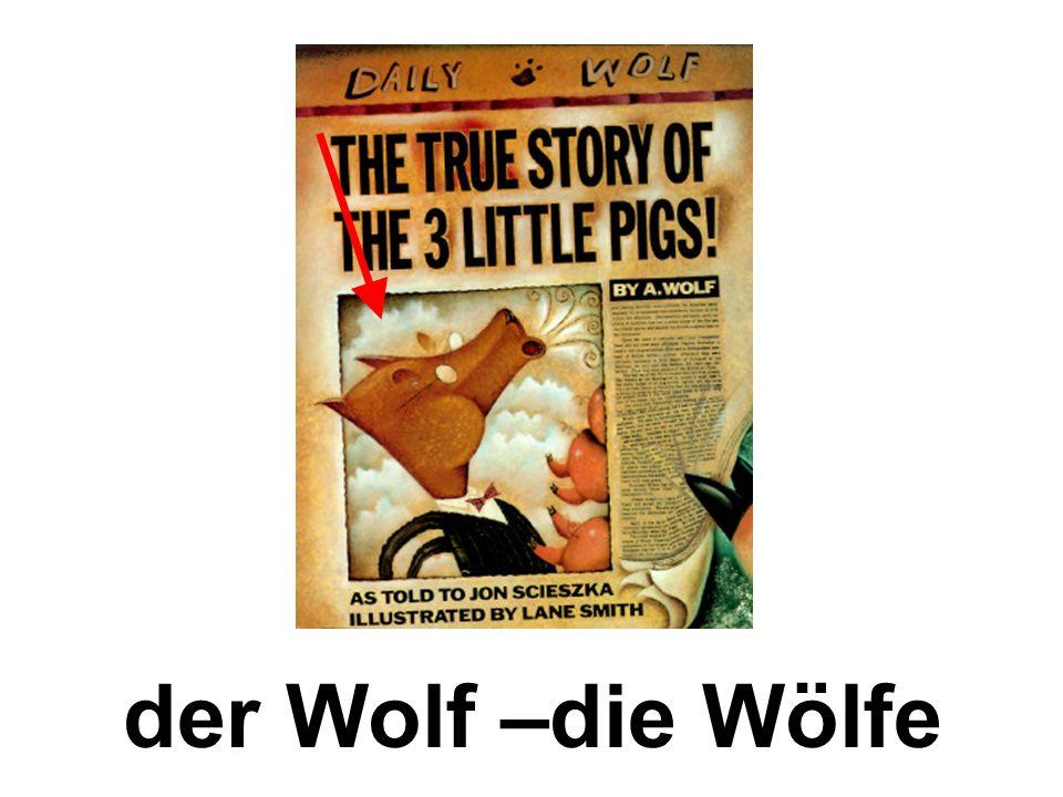 der Wolf –die Wölfe