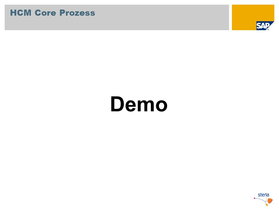 HCM Core Prozess Demo