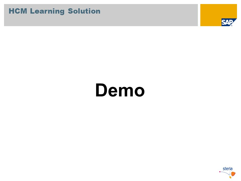 HCM Learning Solution Demo