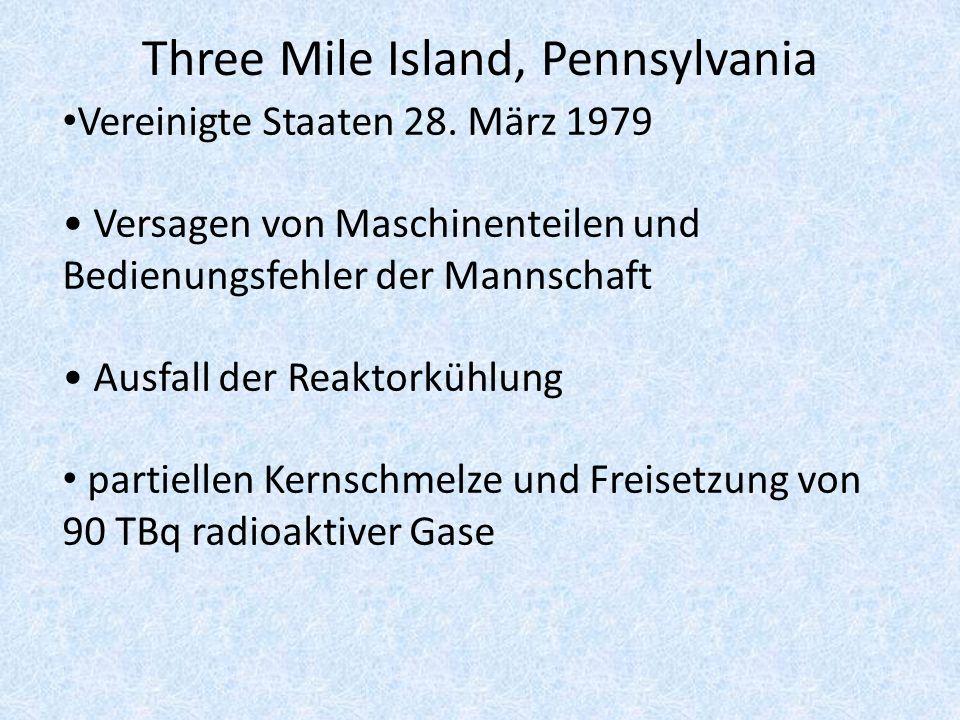 Three Mile Island, Pennsylvania Vereinigte Staaten 28.