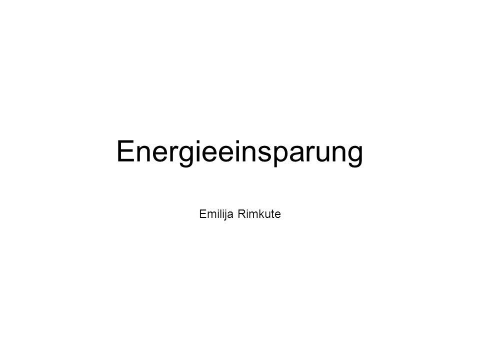 Energieeinsparung Emilija Rimkute