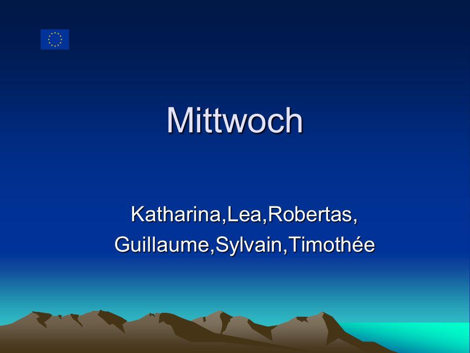 Mittwoch Katharina,Lea,Robertas,Guillaume,Sylvain,Timothée