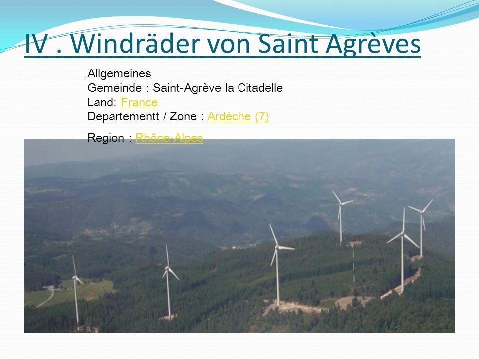 Plan du site de la Citadelle ( Saint Agrève ) 12.100 Einwohner Gemeinde Windkraftanlage von Saint Agrève Gemeinde : Saint Agrève, Désaignes Betrieb seit : 2007/07 6 Machinen Enercon E70/2300 (Stärke 2300 kW, Durchmesser 71 m)EnerconE70/2300 Gesamtstärke der Anlage: 13800 kW Gesamtfläche der Anlage: 23754 m² Entwickler: VSB Energies NouvellesVSB Energies Nouvelles Besitzer : BoralexBoralex Nominale Kraft : 13.8 MW Geschätzte jährliche Produktion: 30 GW.h Versorgte Bevölkerungszahl :
