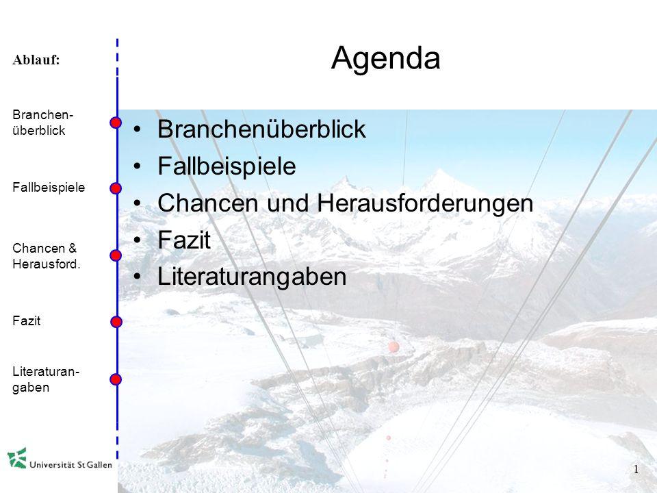 Ablauf: 0 Herausforderungen und Chancen der Seilbahnen Vortrag Alpen und Tourismus – Wirtschaft und Kultur Universität St.