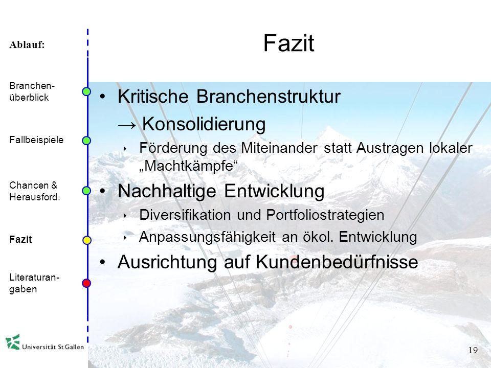 Ablauf: 18 Politische Chancen & Herausforderungen Finanzierung Hürde Basel II –Kreditverleih nur noch mit entsprechend guten Kennzahlen und Businesspl