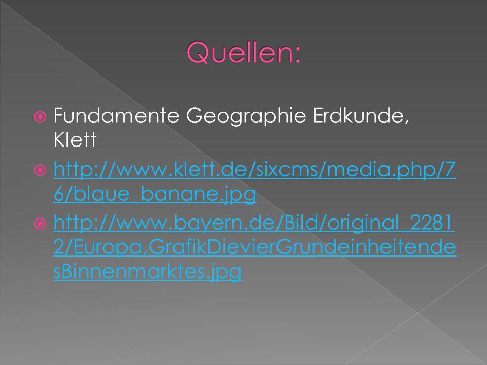 Fundamente Geographie Erdkunde, Klett http://www.klett.de/sixcms/media.php/7 6/blaue_banane.jpg http://www.klett.de/sixcms/media.php/7 6/blaue_banane.