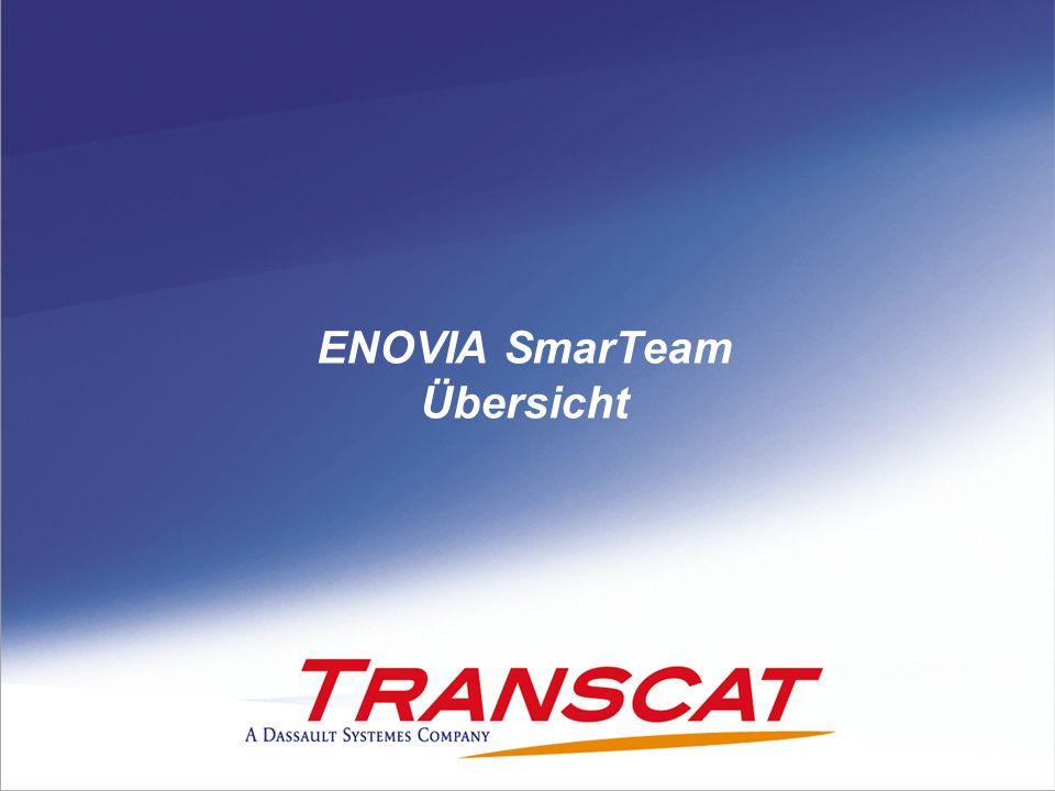 © 2008 Transcat PLM GmbH - MH 02/20092 ENOVIA SmarTeam: Zahlen und Daten Mehr als 13 Jahre Erfahrung – seit 1995 Dassault Systèmes/ ENOVIA mid-market offering Stetiges Wachstum: 5,777 Kunden, 148,125 Anwender.