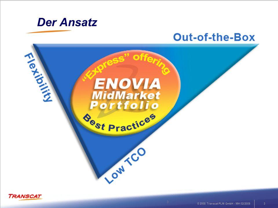 © 2008 Transcat PLM GmbH - MH 02/200914 Enterprise Gateway zu ERP, MRP und anderen Unternehmensanwendungen Teilen von Daten und Zusammenarbeit über mehrere Standorte hinweg Gateway zu Enterprise SystemenMulti-Site Lösung