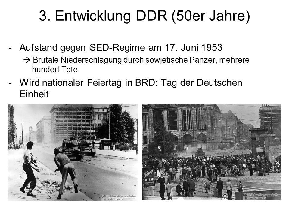 3.Entwicklung DDR (50er Jahre) -Aufstand gegen SED-Regime am 17.