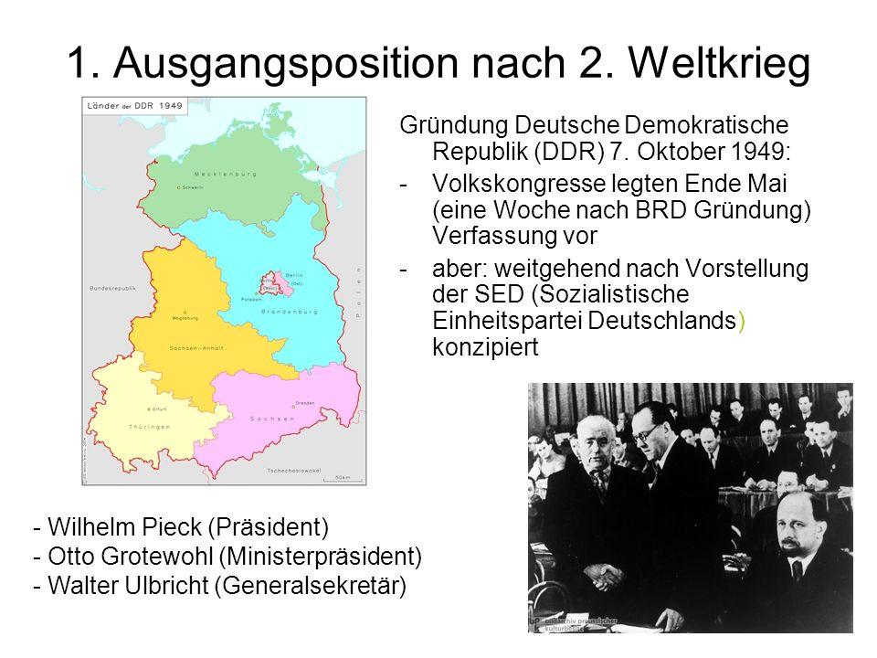 3.Entwicklung DDR (60/70er Jahren) -Mauerbau 13. August 1961: v.a.